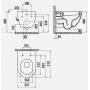 Подвесной унитаз с функцией биде Creavit Free FE322-34CB00E-0002 + сиденье Soft Close