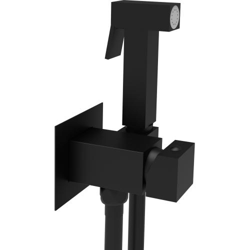 Душевой набор для биде Paffoni Tweet Square Mix (ZDUP112NO) черный матовый