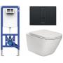 Инсталляция+Унитаз: Sanit Ineo Plus (9073300S004)+Roca Gap Clean Rim (A34H470000)+сидение