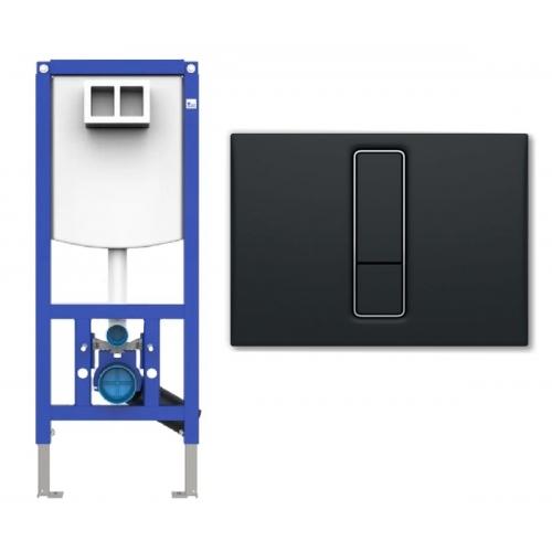 Инсталляция для унитаза Sanit Ineo Plus 450 с клавишей Sanit, черный (90.733.00.S004+16.751.82.0000)
