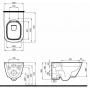 Унитаз подвесной Kolo Modo Pure Rimfree L33123000 + сидение L30112000