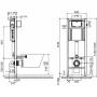Инсталляция с унитазом: Cersanit Aqua 02 Mech Set B206+ Cersanit Delfi с сиденьем (S701-391)