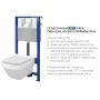 Инсталляция Cersanit Aqua 52 QF +унитаз Cersanit Crea CleanOn с сиденьем Soft Close. S701-395