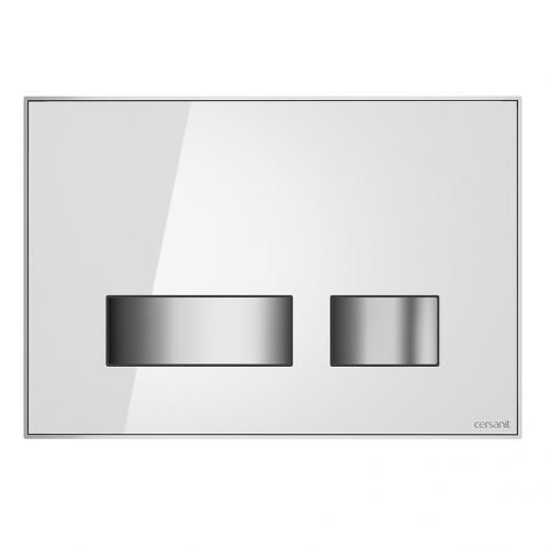 Кнопка смыва Cersanit Movi (S97-012) белое стекло