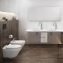 Инсталляция Cersanit Hi-Tec + унитаз Crea Clean On с сиденьем Soft Close + панель смыва Movi хром SZWZ1003902898