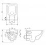 Унитаз подвесной Cersanit Crea Clean On + сиденье, slim (CCHZ1001341986+CSSD1003783434)