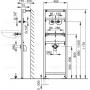 Монтажная рама Alcaplast A104A/1200 для умывальника