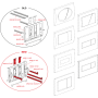 Кнопка управления AlcaPlast M73 хром – комбинация: доска - блестящая, кнопка-матовая