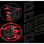 Кнопка управления AlcaPlast M372 хром–матовая