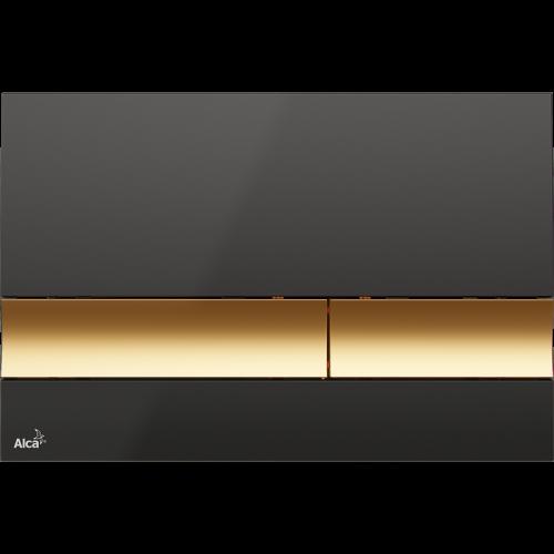 Кнопка управления AlcaPlast M1728-5, (черная/золотая)