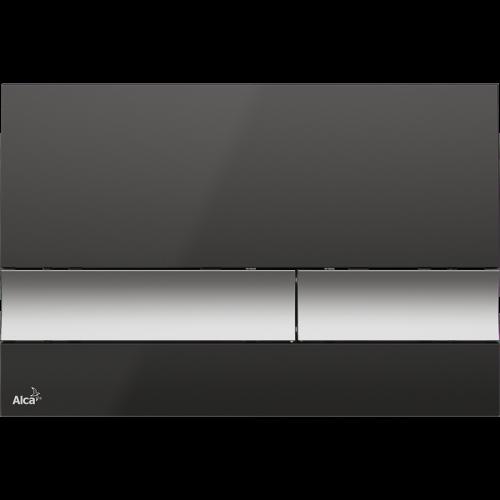 Кнопка управления AlcaPlast M1728-2 (черная/хром-матовая)