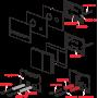 Кнопка управления AlcaPlast STRIPE ALUNOX