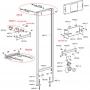 Инсталляция для писсуара Alcaplast A107S/1200 сенсорным устройством