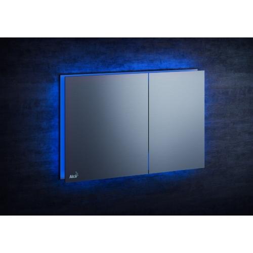 Кнопка управления AlcaPlast AIR LIGHT (голубая подсветка)