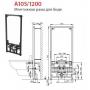 Инсталляция для биде AlcaPlast A105/1120 + Биде Villeroy&Boch Omnia Architectura 54840001