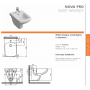 Инсталляция для биде Imprese i4300 + Биде Kolo Nova Pro M35103000