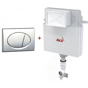 Бачок для унитаза AlcaPlast AM112+кнопка M71