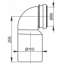 Колено стока AlcaPlast M906 комплект 90/110