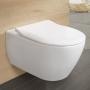 Унитаз подвесной Villeroy&Boch Subway 2.0 5614R2R1 Direct Flush с покрытием Ceramic Plus и сиденьем Soft Close 9M78S101