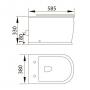 Унитаз подвесной Volle Puerta 13-16-077 c сиденьем