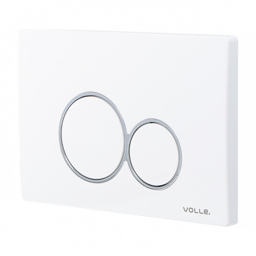 Кнопка смыва Volle VISO EVO 222124, белый глянец, пластик