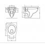 Унитаз подвесной Volle Maro (13-52-321), сиденье мягкое