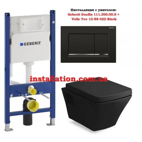 Инсталляция с унитазом: Geberit Duofix 111.300.00.5 + Volle Teo 13-88-422 Black