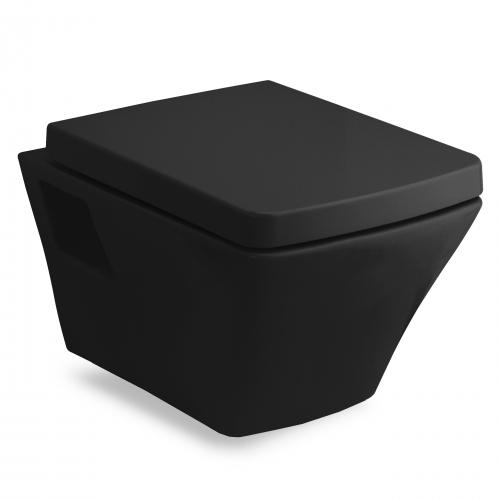 Унитаз подвесной Volle Teo 13-88-412 Black с сиденьем slow-closing 13-88-402black