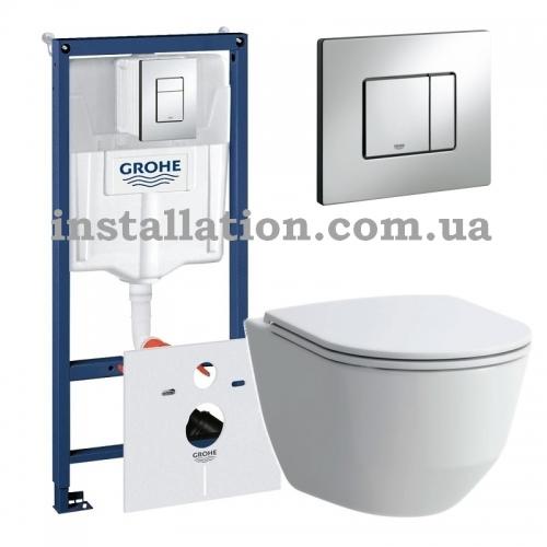 Инсталляция Grohe Rapid SL 38536001 + Унитаз Laufen Pro Rimless H8669570000001 + Сиденье Slim Soft-close