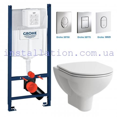 Инсталляция Grohe Rapid SL 3in1 38840000+ Унитаз Laufen Pro H8669510000001+ Сиденье Slim Soft-close