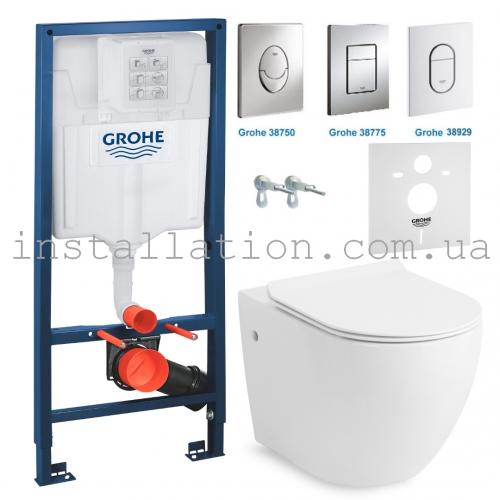 Инсталляция + унитаз: Grohe Rapid SL 3884000G + Volle Amadeus (13-06-055)