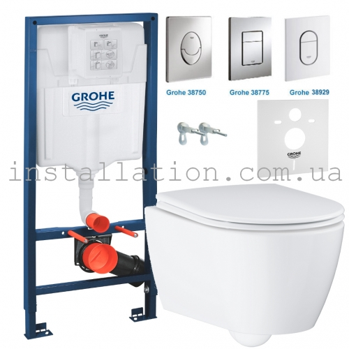 Инсталляция Grohe Rapid SL 3884000G с Унитазом Grohe Essence 3957100H + сидение