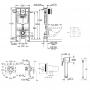 Инсталляция для унитаза Grohe Rapid SL (38772001) +смеситель с гигиеническим душем Grohe Bau Loop 111042