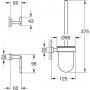 Набор аксессуаров 3-in-1 Grohe Essentials Cube 40757001 для туалета