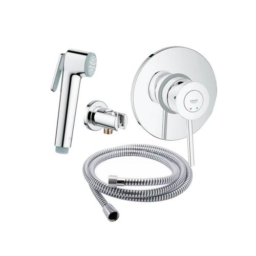 Гигиенический душ+смеситель Grohe BauClassic 111048