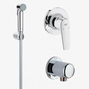 Гигиенический душ+смеситель Grohe BauFlow 121645