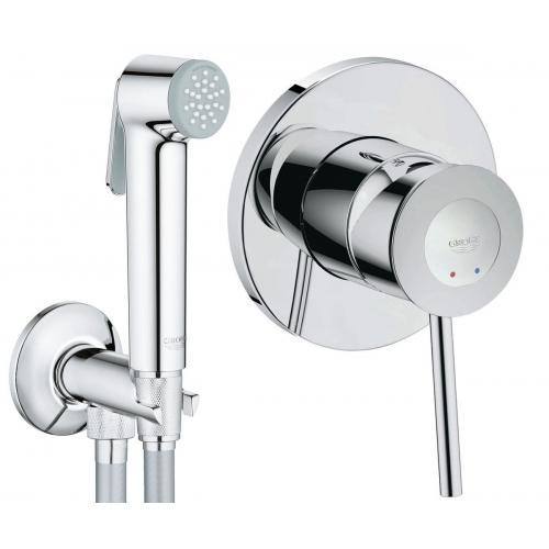 Гигиенический душ+смеситель Grohe BauClassic 2904800S