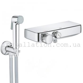 Гигиенический душ+смеситель Grohe Grohtherm SmartControl +Tempesta-F Trigger Spray 34719000+26358000