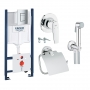 Инсталляция Grohe Rapid SL 38929000+ Гигиенический душ 121646 + держатель бумаги 40367001