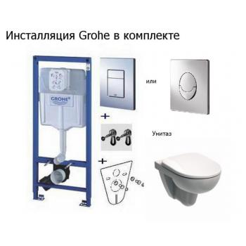 Унитаз+Инсталляция Grohe Rapid SL 38721001+Kolo Nova Pro Rimfree M33120000+ Кнопка
