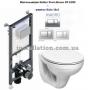 Инсталляция с унитазом: Koller Pool ST1200 + Kolo IDOL M1310000U+Кнопка Kvadro Chrome