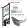 Инсталляция Koller Pool Alcora ST1200+унитаз Kolo Nova Pro M39018000+Кнопка Twin Chrome