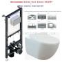 Инсталляция с унитазом: Koller Pool Alcora ST1200 + Кнопка Chrome+ Creavit Free Rim-Off FE322-11CB00E-0000 с сиденьем