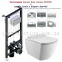 Инсталляция с унитазом: Koller Pool Alcora ST1200 + Кнопка Chrome+ Creavit Elegant Rim-Off + сиденье soft-close (EG321.00100+KC5030.00)