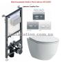 Инсталляция Koller Pool Alcora ST1200+Унитаз Laufen Pro (H8669570000001)+Кнопка Round Chrome