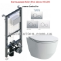 Инсталляция Koller Pool Alcora ST1200+унитаз Laufen Pro (H8669570000001)+Кнопка Twin Chrome