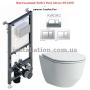 Инсталляция Koller Pool Alcora ST1200+унитаз Laufen Pro (H8669570000001)+Кнопка Kvadro Chrome