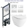 Инсталляция с унитазом: Koller Pool Alcora ST1200 + Volle Oliva Rimless 13-45-165+Клавиша белая