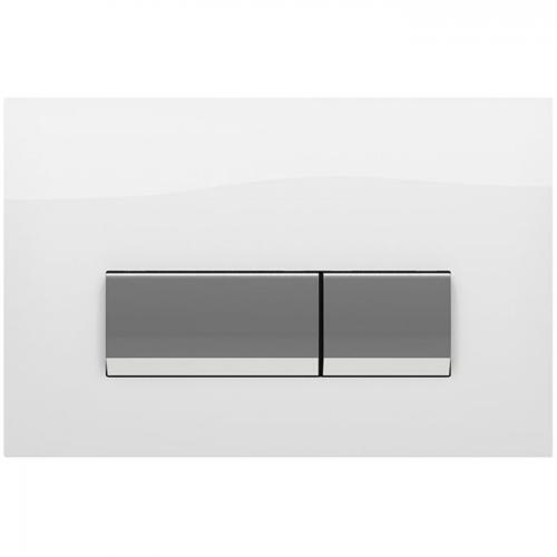 Кнопка смыва Koller Pool Integro White Glass