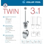 Унитаз Koller Pool Round Rimless (RN-0520-RW) с сидением Softclose+в подарок набор аксессуаров